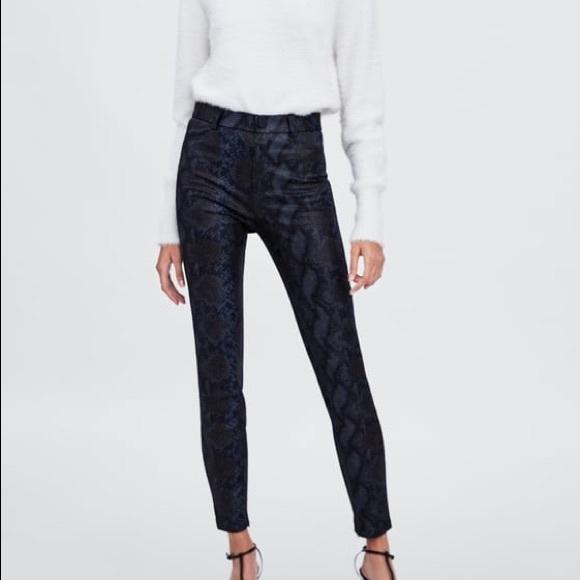 85f98705ffcf0e Zara Pants | High Waist Snake Print Python Leggings | Poshmark
